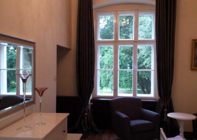 Sypialnia widok z okna